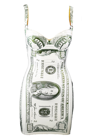 Classic Money Latex Mini Dress