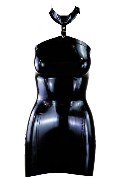 Conservative Restricted Latex Dress