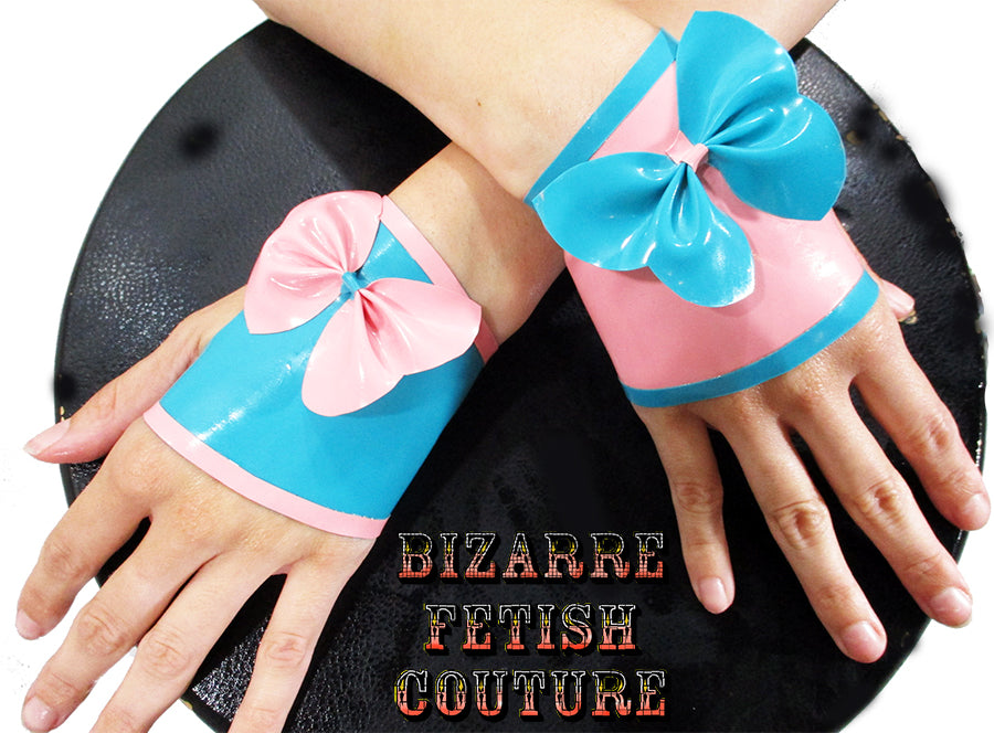 Cotton Candy Latex Fingerless Gloves - BIZARRE FETISH COUTURE