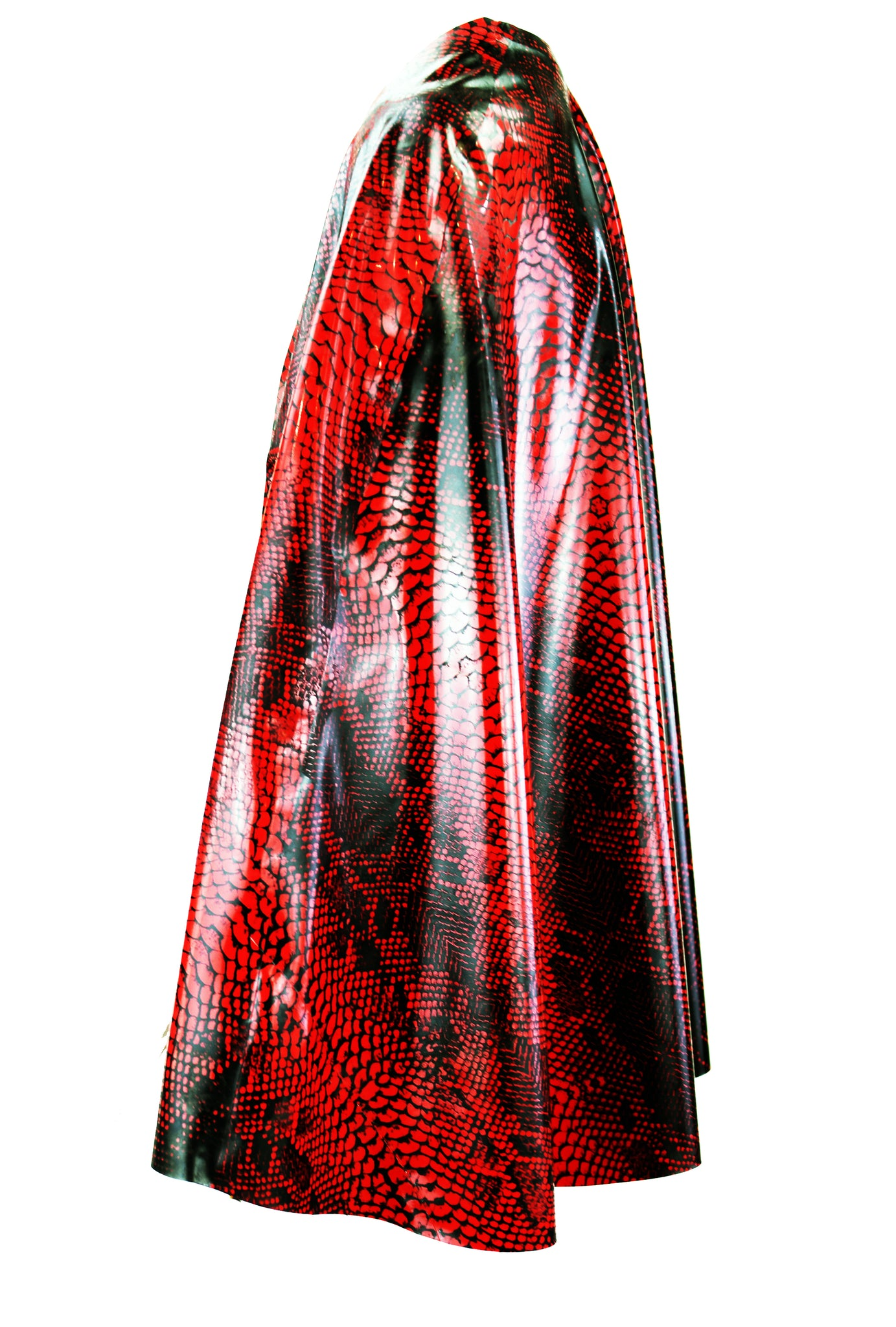 Crocodile Latex Cape