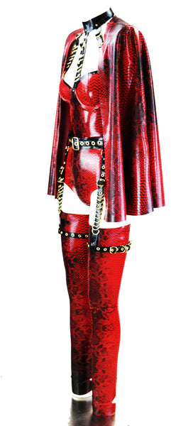 The Red Croc Latex Look