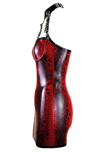 Crocodile Restricted Latex Dress