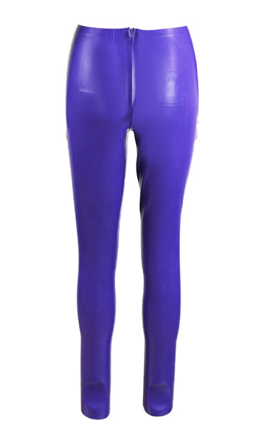 Purple & Turquoise Cairo Latex Crosshatch Hot Pants