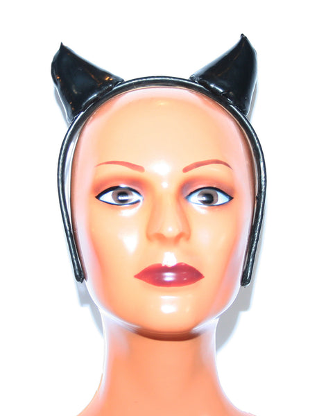 Devil Kitty Ear Latex Head Band