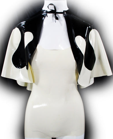 The Black & White Drip Latex Capelet