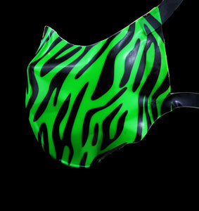 Neon zebra Print Latex Nose & Mouth Face Mask