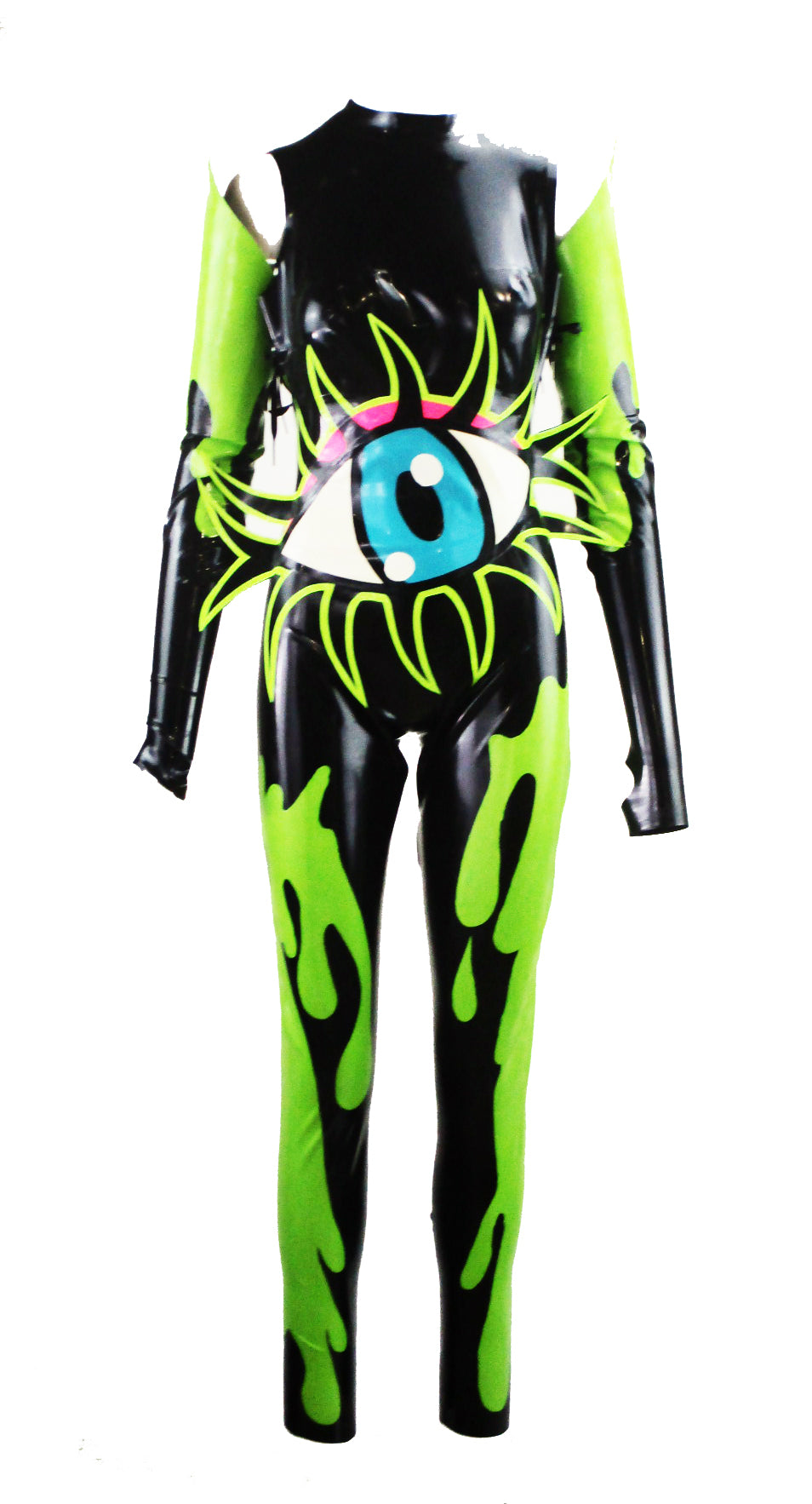 Eyeball Slime Latex Catsuit