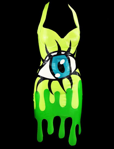 Latex Eyeball Slime Drip Dress