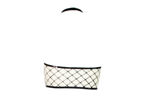 Fishnet Latex Halter Bra