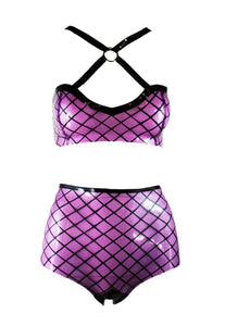 Fishnet O Ring Latex Bikini