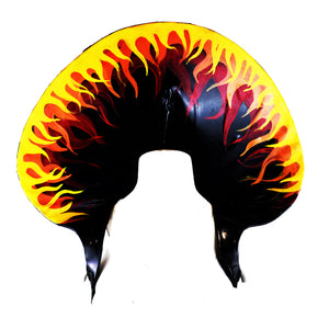 Disco Fire Flame Latex Collar