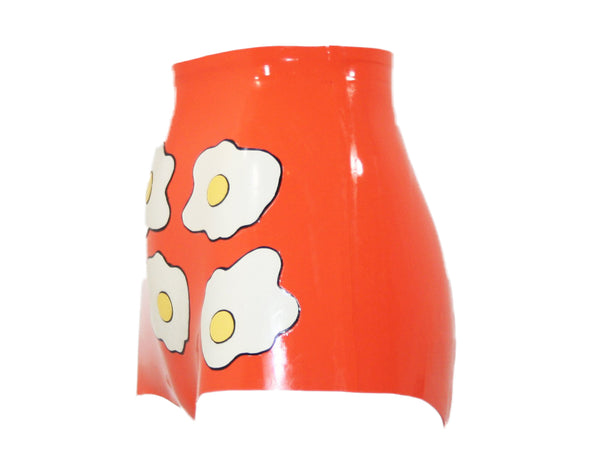 The Fried Egg Latex High Waisted Booty Shorts