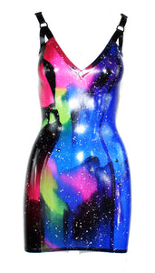 Galaxy Latex Mini Dress