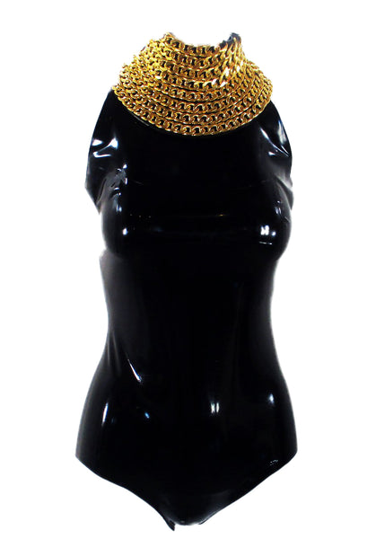 The Gold Chain Link IMMORTAL Latex Bodysuit
