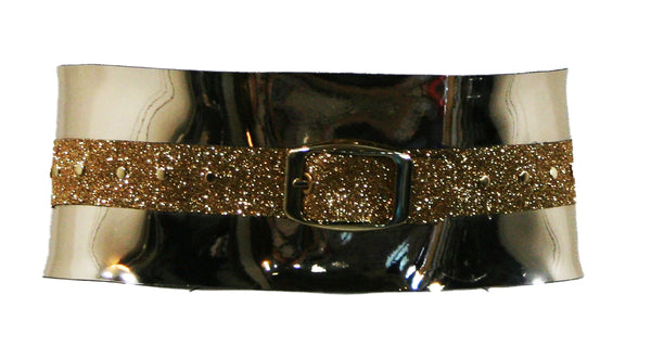 Gold Chrome Glitter Belt