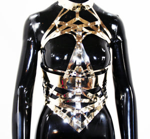 Gold Chrome Skull Body Harness