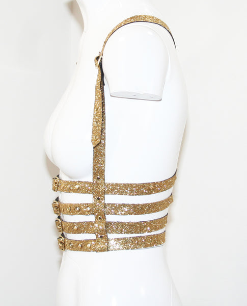 Gold Glitter Harness