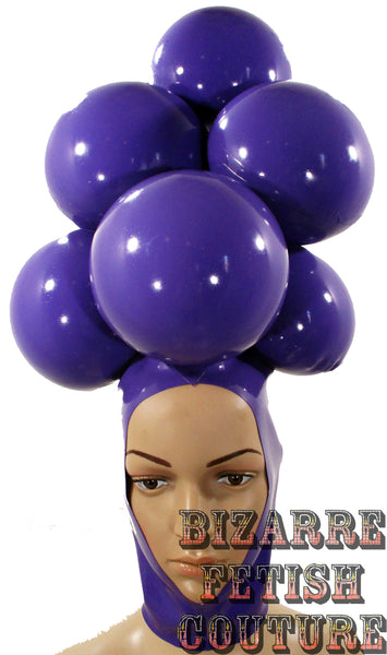 Grape Latex Inflatable Wig - BIZARRE FETISH COUTURE