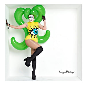 Oversized Green Inflatable Latex Ponytail Wig - BIZARRE FETISH COUTURE