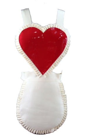 Latex Ruffle Heart Apron