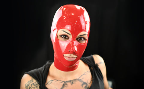Red Snug Latex Full Face Mask