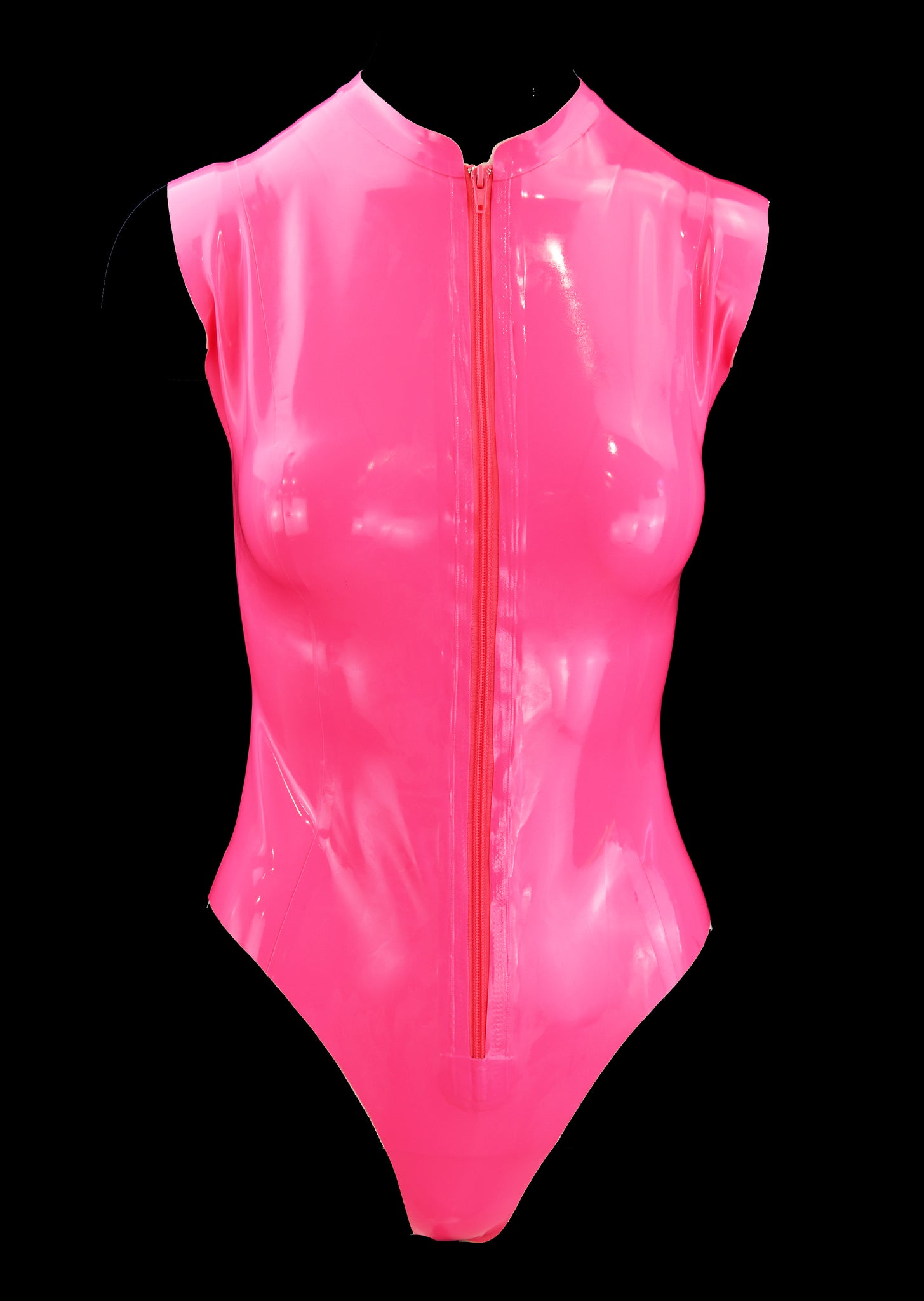 Neon Latex Cleavage Bodysuit