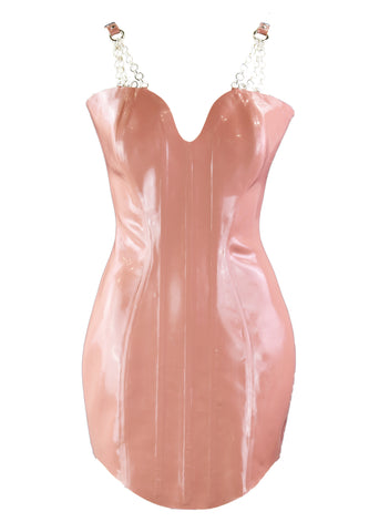 Heavy Rubber Hour Glass Latex Corset Dress
