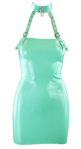 Jade Green Restricted Latex Dress