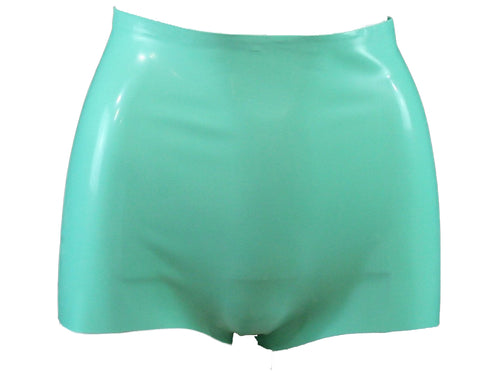 Jade Green Latex Booty Shorts