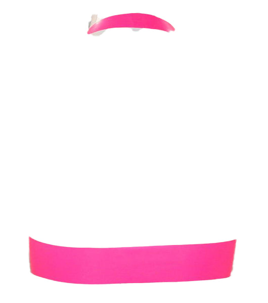 Sporty Hot Pink Neon Latex Bra