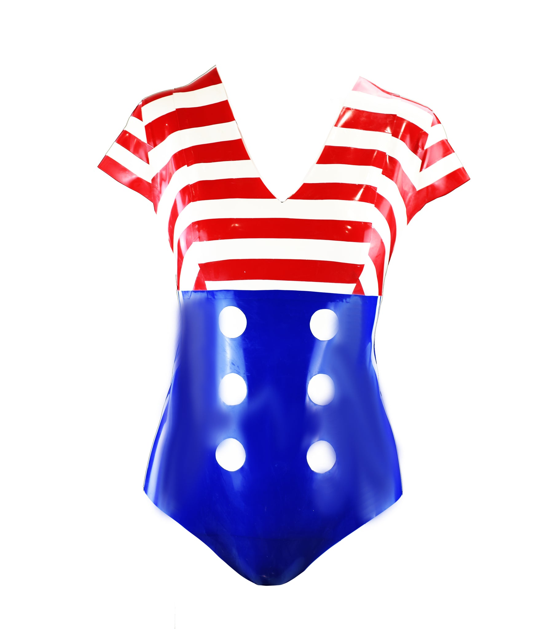 Latex American Sailor Bodysuit