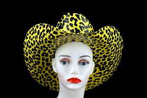 Leopard Print Latex Cowboy Hat