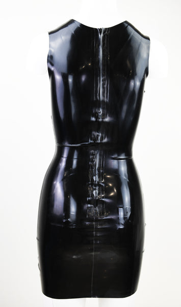 Low Cut Latex Dress
