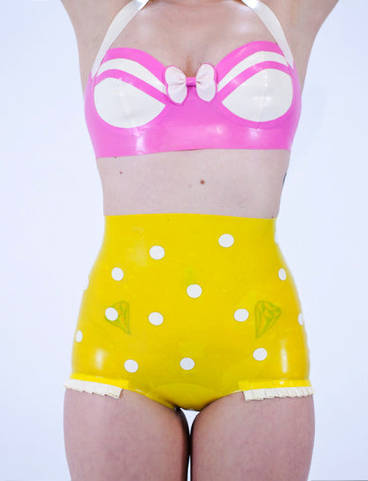 The Pinup Drive Thru Latex Bikini