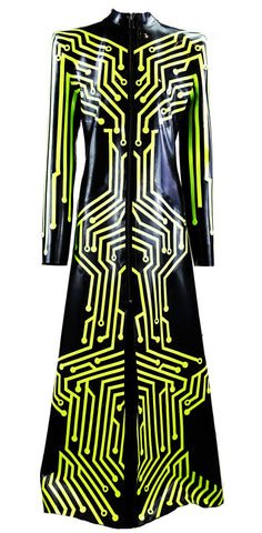 The Matrix Heavy Rubber Latex Trench Coat