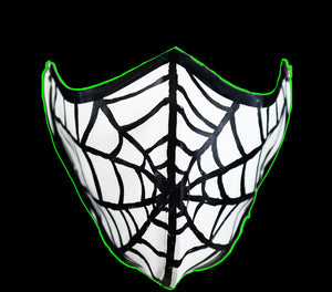 Spider Web Nose & Mouth Latex Face Mask
