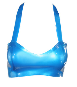 Metallic Latex Halter Bra