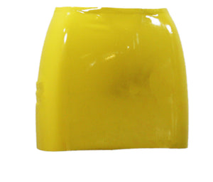 Yellow Latex Mini Skirt