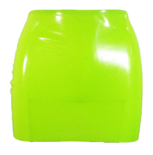 Neon Lime Green Latex Mini Skirt