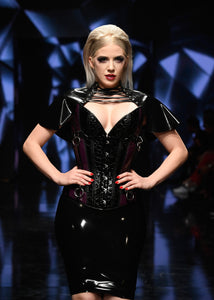 The Ruffle Corset Latex Capelet