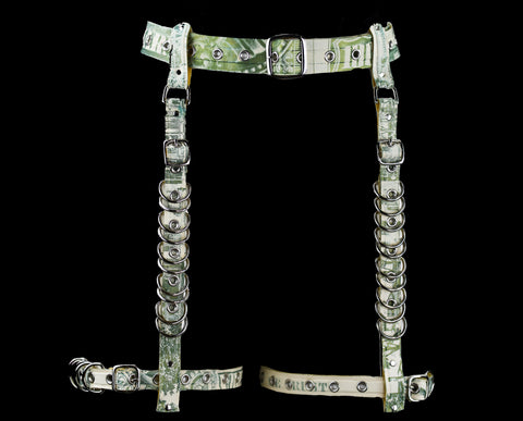 Money Latex Garter Belt