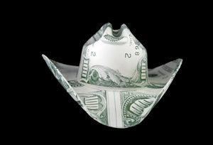 Money Latex Cowboy Hat