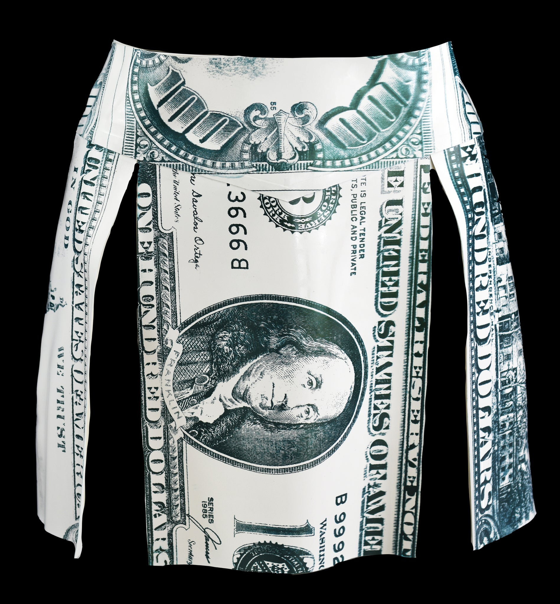 Money Print Latex Kilt
