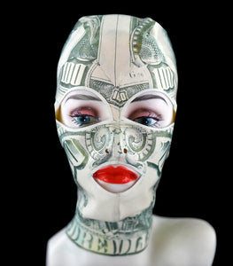 Money Print Latex Face Mask