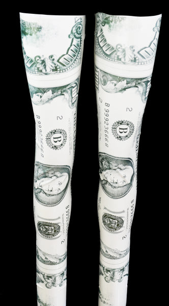 Money Print Latex Stockings
