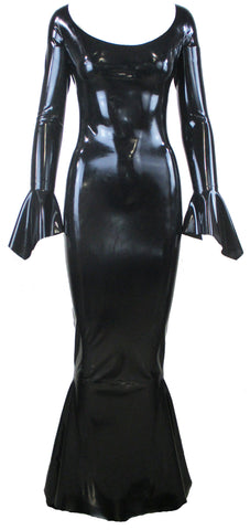 Morticia Latex Gown