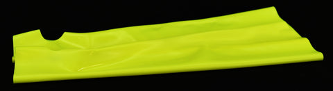 Neon Lemon Latex Opera Length Gloves