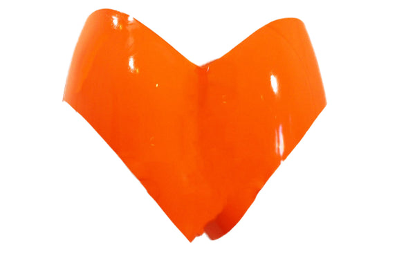 Heart Shaped Neon Orange Latex Briefs