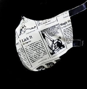 Newspaper Print Latex Nose & Mouth Face Mask