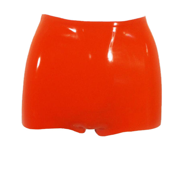 Neon High Waisted Latex Booty Shorts